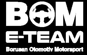 BOM E-Team Logo Beyaz